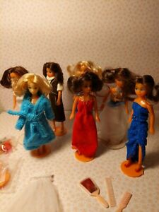 Sears Adorables Lot of 7 Fashion Dolls 4 Inches knock off Glamour Gals Dazzle