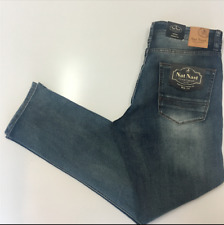 56ed01b9 NAT NAST Mens Luxury Originals Stretch Straight Fit Jeans Beach 38 x 34 NWT!