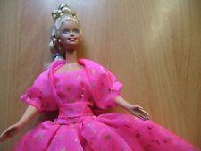 Barbie doll Long Blonde hair straight limbs Bright Pink dress top & high heels