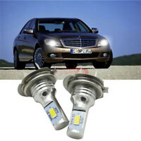 2x LED LAMPEN H7 Auto Light ABBLENDLICHT Weiß 6000K VS Xenon für MERCEDES C W204