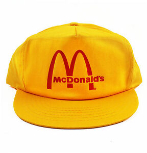Vintage McDonalds Snapback Hat Cap Vetements 5 6 panel shirt 90s NEW