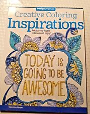 New Creative Coloring INSPIRATIONS Art Adult Activity Book Awesome Relax Color