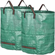 2X Sacs de Jardin 500L indéchirables ordures renforcé pliable sac de déchets