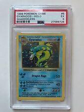 Pokemon Card Shadowless Holo Gyarados Base Set 6/102, PSA 5 - excellent