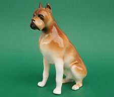 Royal Dux Tschechien,Porzellan,Hundefigur,Boxer,Tier,Handstaffage,1960,TOP++++