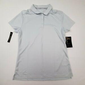 Nike Golf Women's Polo Top Size Medium Silver SM17