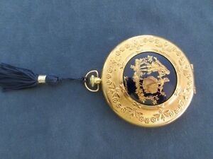 VINTAGE FRENCH LIMOGES GOLD POWDER COMPACT NEVER USED