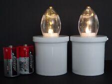 2 LED Elektro Grablicht Kerzen Weiss 270Tage Grablampe Grabschmuck mit Batterien