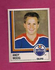 RARE 1987 PANINI # 255 OILERS ANDY MOOG  STICKER CARD (INV# 9062)
