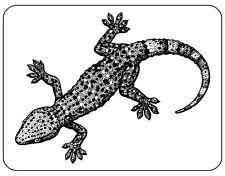 Gecko Lizard Mouse Mat - Line Art Drawing