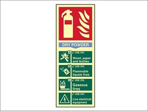 Scan - Fire Extinguisher Composite - Dry Powder - Photoluminescent 75 x 200mm