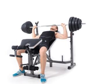 Fitness Folding Workout Bench  Lifting Barbell Exercise Bodybuilding Home Gym