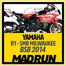 Kit Adesivi Yamaha R1 BSB 2014 Team SMR Milwaukee- High Quality Decals