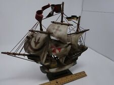 "Vintage ""Golden Hind"" Spanish Galeon 15th Century Style Model Sailing Ship"