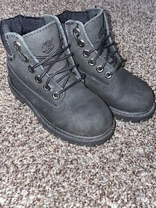 Boys Timberland Boots Toddler Size 10 Black Helcor Textured Boots