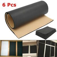 6 Sheets Car Sound Proofing Deadening Insulation Closed Cell Foam Noise Rubber