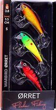 3 Fladen Warbird Orret Sinking Wobbler 55mm 3.8g Crankbait Trout Perch Vibrant