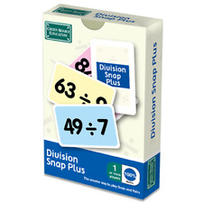 Division Plus Snap and Pairs Card Game - Educational Game for Children 8+ Years