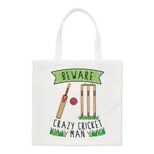 Beware Crazy Cricket Man Regular Tote Bag Funny Sport