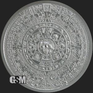 1 oz. Golden State Mint Silver Round Aztec Calendar .999 Fine - IN STOCK!!