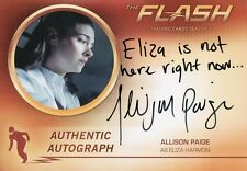 The Flash Season 2, Allison Paige 'Eliza Harmon' Autograph Card AP1