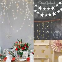 4m Hanging Star Pine Garland Christmas Tree Decorations Ornaments 5 Colors