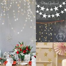4m Hanging Star Garland Christmas Tree Decorations Ornaments 5 Colors