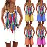 Plus Size Women Summer Strappy Beach Wear Sundress Bikini Cover up Mini Dress