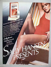 Sally Hansen Hair Removal System PRINT AD - 1984 ~~ swimsuit, bathing suit