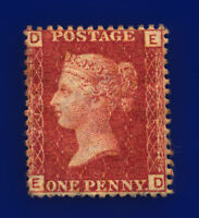 1878 SG43 1d Red Plate 215 ED Fresh Red Shade Mounted Mint Hinges Cat £90 crwo