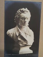 antique post card SEFFNERs BEETHOVEN BUST Peters Libr.