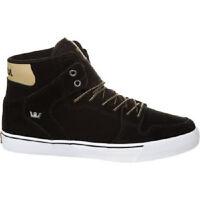 SUPRA VAIDER Mens Skate Shoes (NEW w/ FREE SHIP) Black Cornstalk White SIZE 9-12