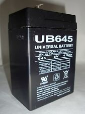 UPG 6VOLT 4.5AH RECHARGEABLE GAME FEEDER ALARM SLA 6V 4.5AMP HOUR SEALED BATTERY