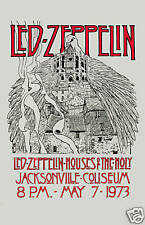 Heavy Metal: Led Zeppelin Houses Of Holy Florida Poster 1973 12x18