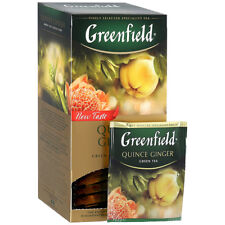 Greenfield Quince Ginger Green Tea 25 bags