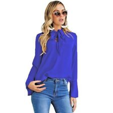 c4366d2820ec6 PussyBow tie V Neck Blouse Shirt Top Many Colours John Zack