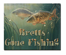 Personalised Gone Fishing Sign ideal fishing gift ,anglers gift fathers day
