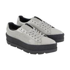 Puma заостренным Creeper 36627002 женская серая лакированная кожа низкие кроссовки обувь