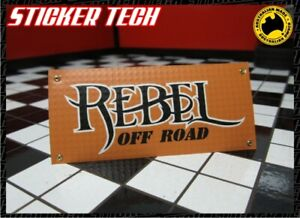 1/10 1/12 1/8 SCALE REBEL OFFROAD RC GARAGE WORK SHOP BANNER SUITS RC4WD JK TRX