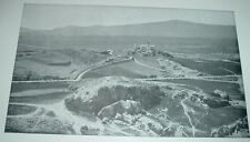 1904 Antique Print VIEW OF MARS HILL FROM THE ACROPOLIS Athens Greece