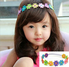 DAISY CHAIN HEADBAND Girls Flower Elastic Hair Band Childrens Party Hairband