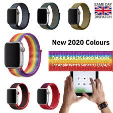 Nylon Bands for Apple Watch 1, 2, 3, 4, 5 Series - 38mm/40mm & 42mm/44mm