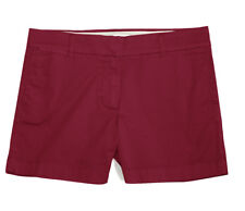 "J Crew Factory - Womens 4 (S) - NWT - Currant Red 5"" Chino Cotton Shorts"