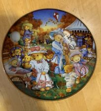 """Franklin Mint teddy bear limited edition plate """"Outing"""" Exc Condition!"""