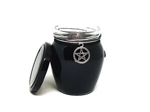 Spell candle Protection crystal large, witchcraft candle, pagan intention candle