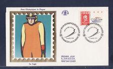 enveloppe 1er jour  Jeux Olympiques  luge   73  Macot la Plagne    1991