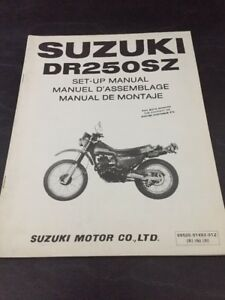 Suzuki DR250 SZ Set-Up Manual