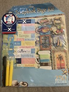 NEW! Carnival Cruise 250 Piece Scrapbook Kit Only Avail on Board Set
