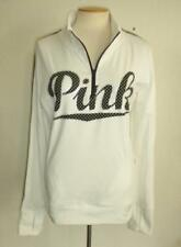 VICTORIA'S SECRET MS SIZE LARGE TRUE WHITE ULTIMATE 1/2 ZIP LONG SLEEVE PULLOVER
