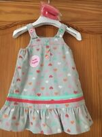 Baby Girl's Dress  & Tights Set - Age 6-9 Months New Tags Hearts